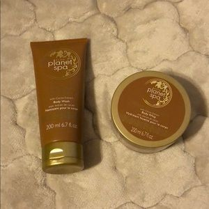 Avon Planet Spa body wash and body whip